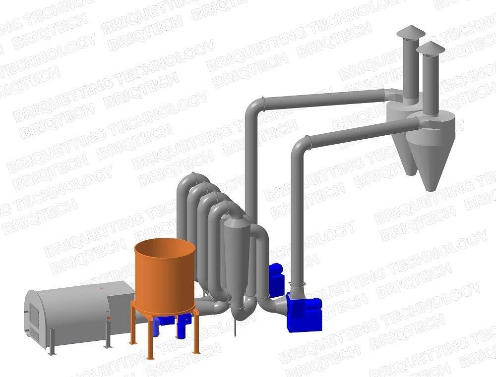 Uscator aerodinamic rumegus DAD-0.6-1.2