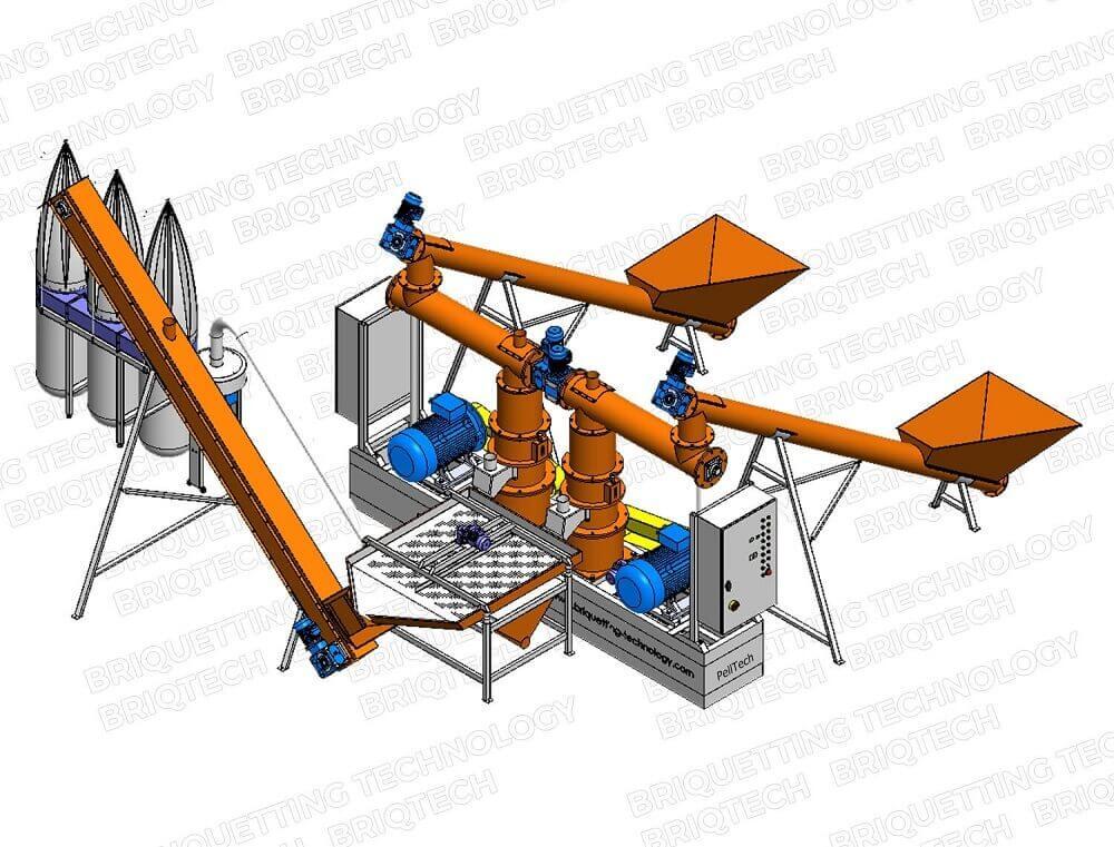 Minicomplex presa peleti GFD-0.8